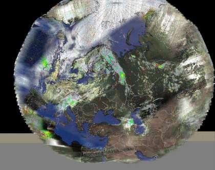 Композитный снимок со спутников NOAA. IR.